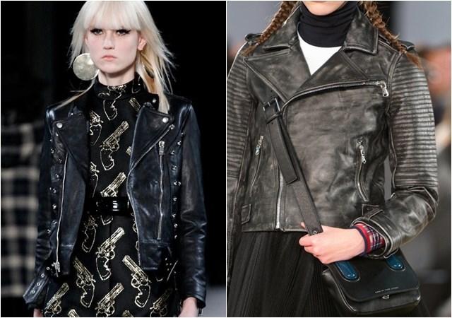 женские кожаные косухи осень-зима 2014-2015