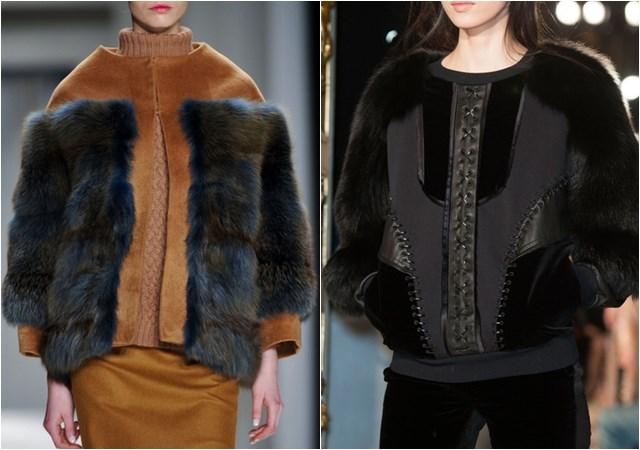 женские куртки с меховой отделкой осень-зима 2014-2015