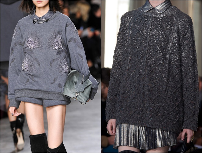 женские трикотажные свитера осень-зима 2014-2015 (оригинальная фактура и цветочный принт)