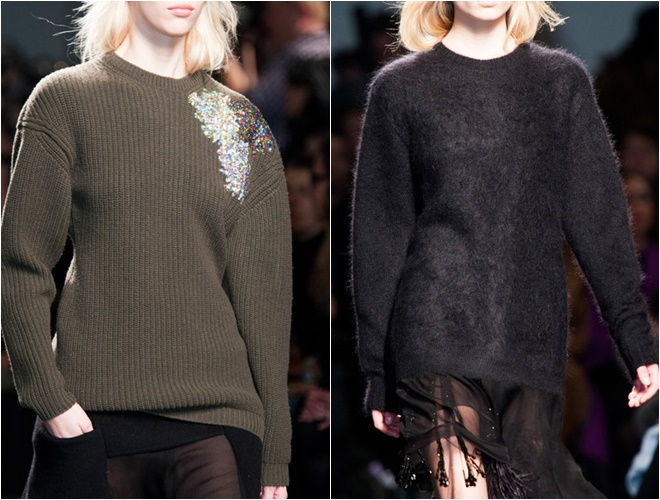 женские трикотажные свитера осень-зима 2014-2015 (черный и хаки)