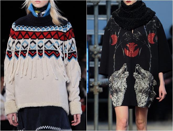женские трикотажные свитера осень-зима 2014-2015 (скандинавский узор)