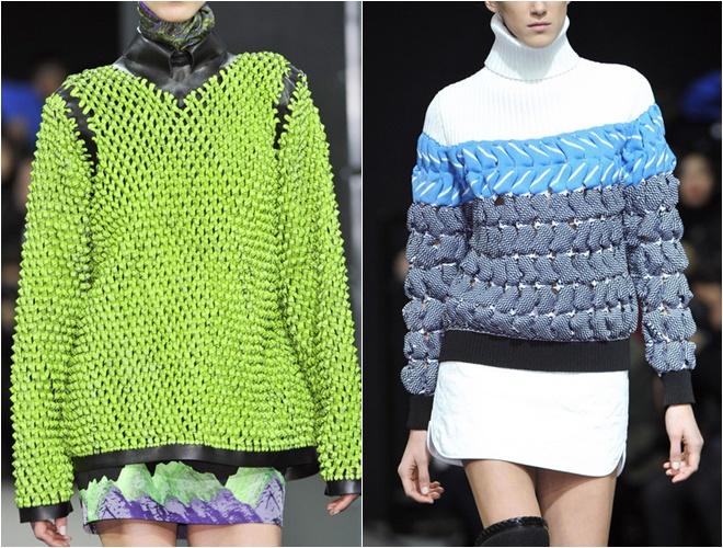 женские трикотажные свитера осень-зима 2014-2015 (фактурная вязка)