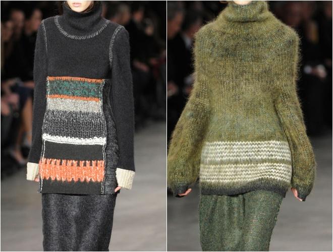 женские трикотажные свитера осень-зима 2014-2015 (длинные серый и хаки)