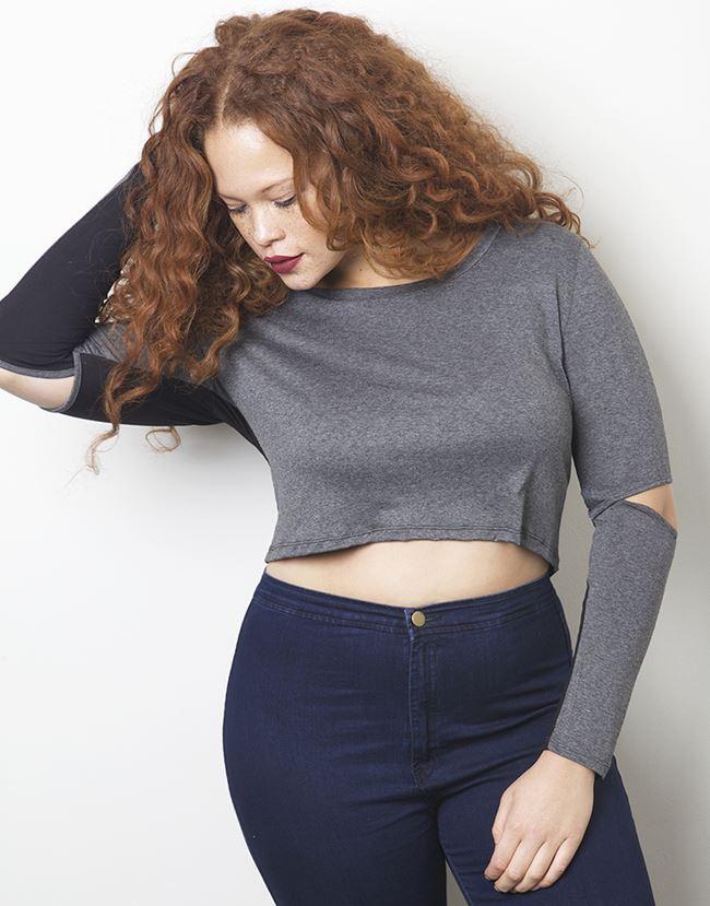RebDolls кроп топ и джинсы для полных 2014-2014
