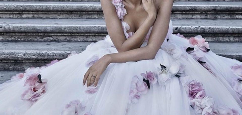 Бьянка Балти в рекламной кампании свадебной коллекции осень-2015  Alessandro Angelozzi Couture