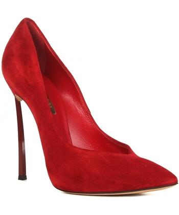 красные замшевые туфли (2)