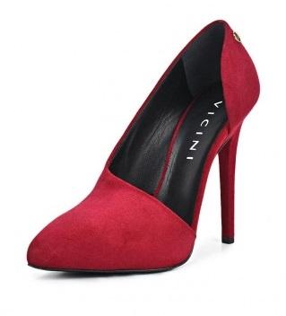 красные замшевые туфли (3)