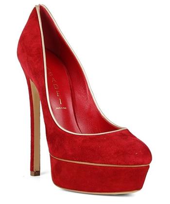 красные замшевые туфли (4)