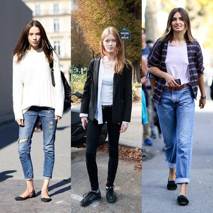 с чем носить джинсы: уличная мода Парижа