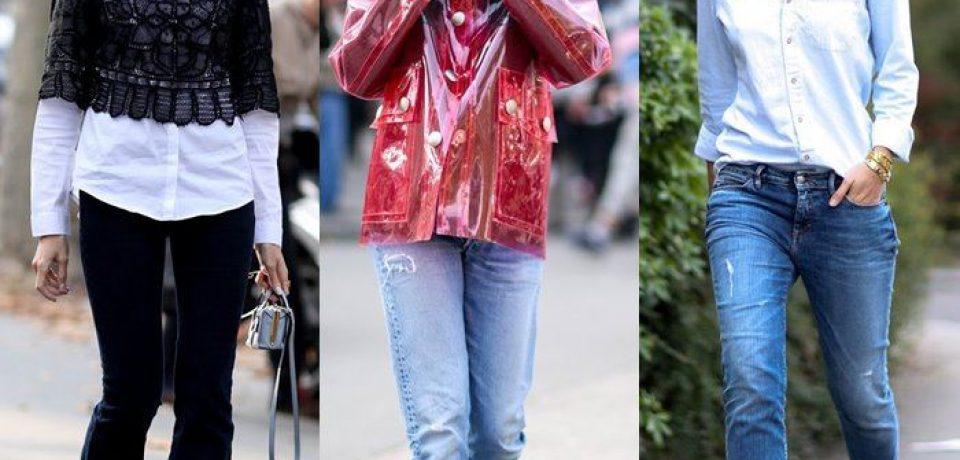 С чем носить джинсы: уличный стиль Парижа 2014-2015 на Неделе Моды