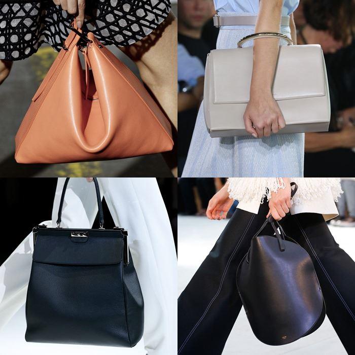 Модные женские гладкие сумки весна-лето 2015