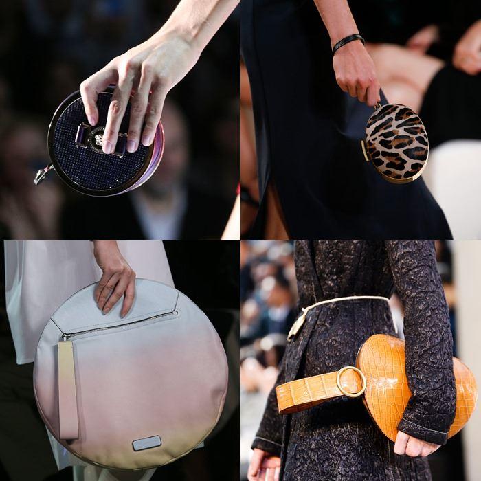 Модные женские круглые сумки весна-лето 2015