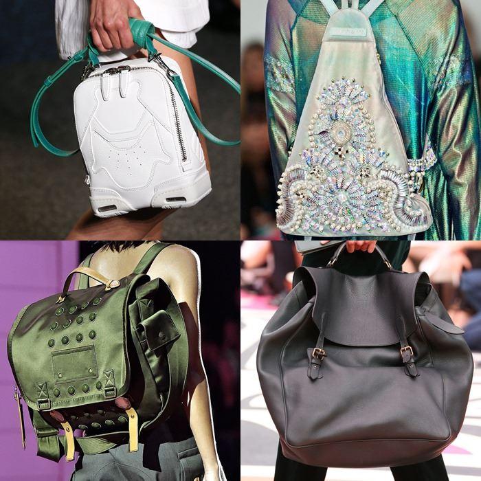 Модные женские сумки-рюкзаки весна-лето 2015