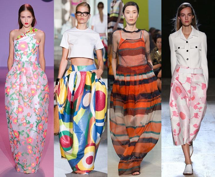 Силуэт баллон для юбки и платья