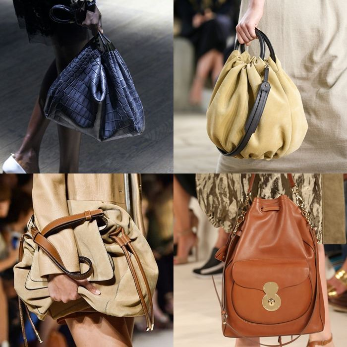 Модные женские сумки-мешки весна-лето 2015