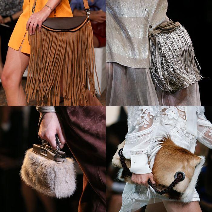 Модные женские сумки с бахромой и мехом весна-лето 2015