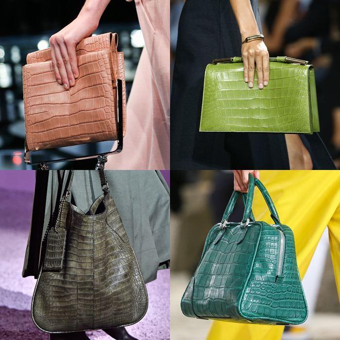 Модные женские сумки с крокодиловым принтом весна-лето 2015