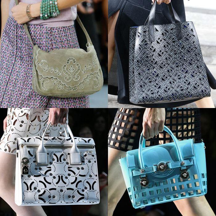 Модные женские сумки с перфорацией весна-лето 2015