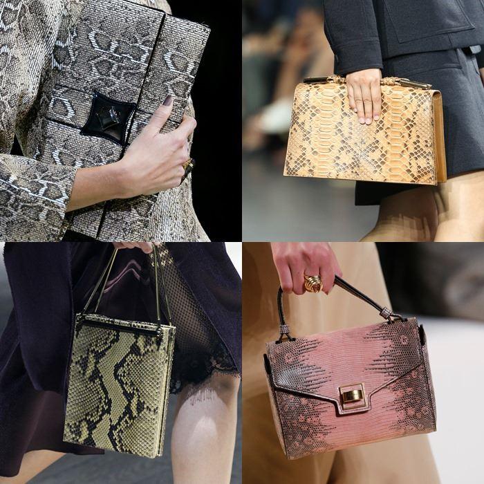 Модные женские сумки со змеиным принтом весна-лето 2015