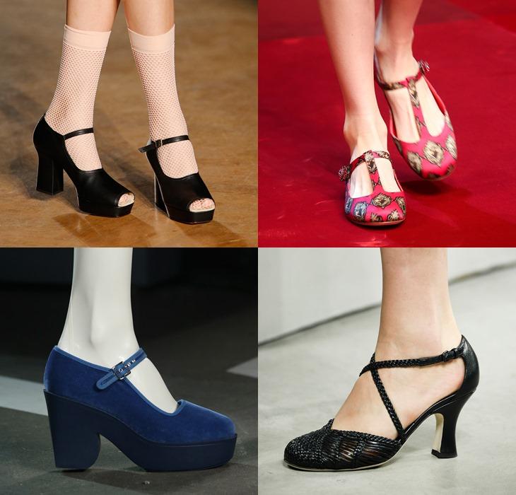 Туфли в ретро-стиле весна-лето 2015