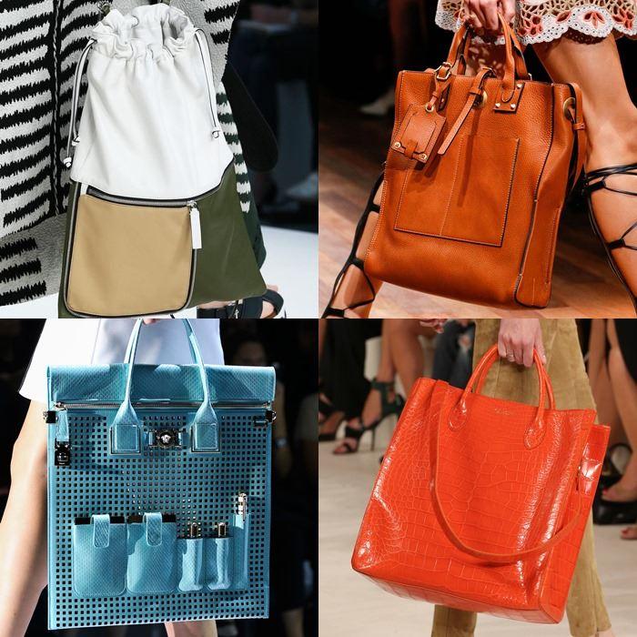 Модные женские вертикальные сумки весна-лето 2015