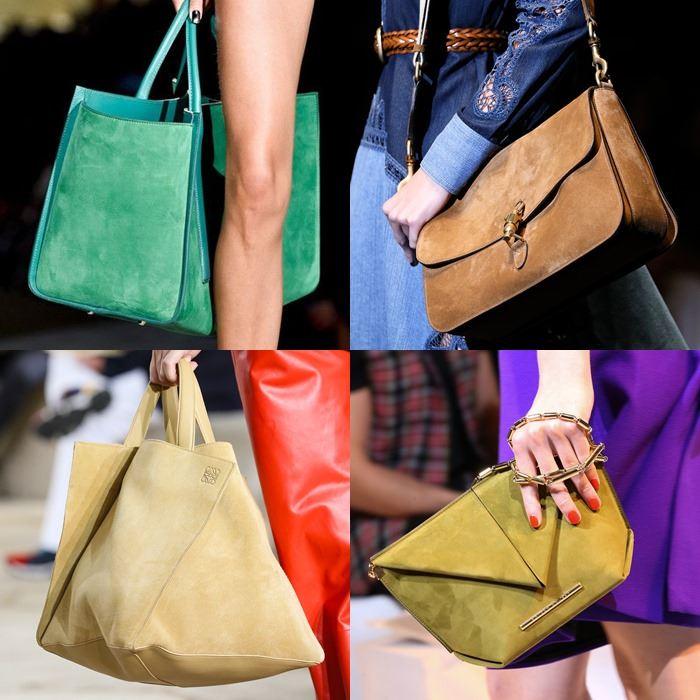 Модные женские замшевые сумки весна-лето 2015