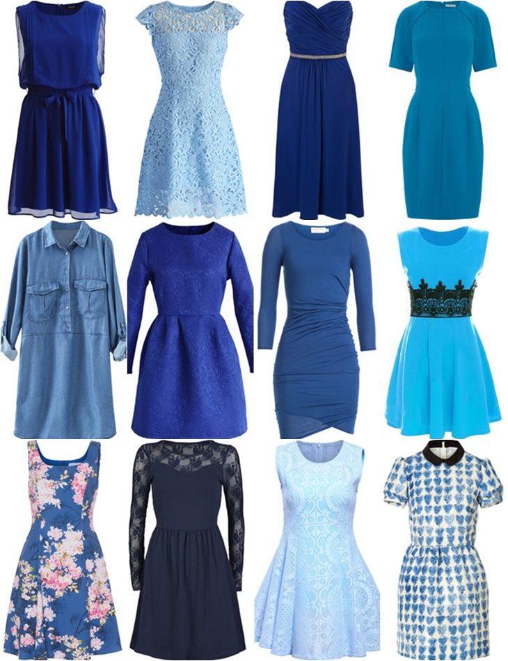 купить синее платья в интернет-магазинах