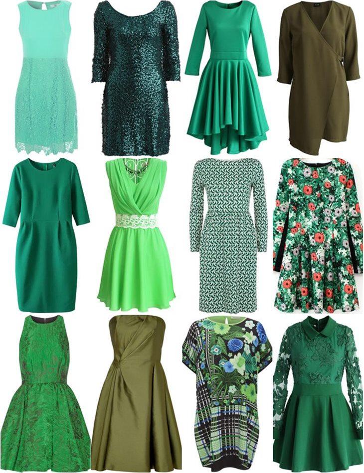 купить зеленые платья в интернет магазине