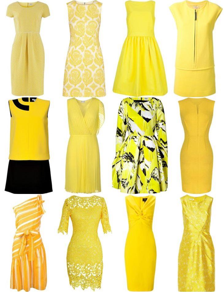 купить желтое платье в интернет магазине