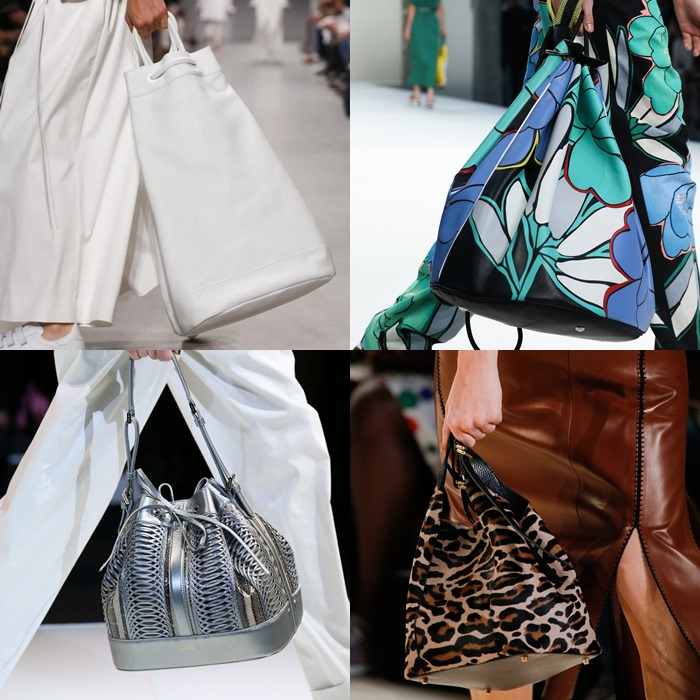 Модные женские сумки мешки весна-лето 2015