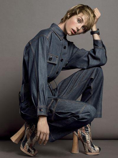 Эди Кэмпбелл в фотосессии Vogue US (март 2015)