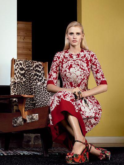 Лара Стоун в фотосессии Vogue US (март 2015)