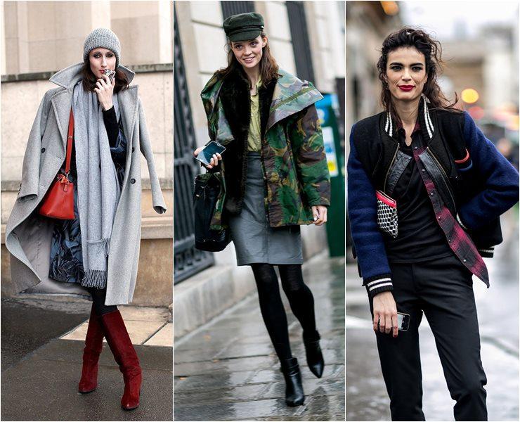 Уличный стиль моделей в Париже  (1)