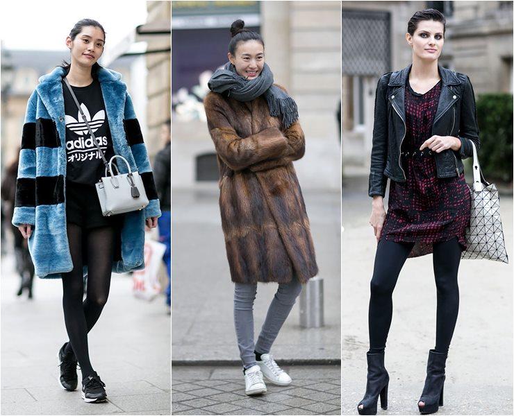 Уличный стиль моделей в Париже  (10)