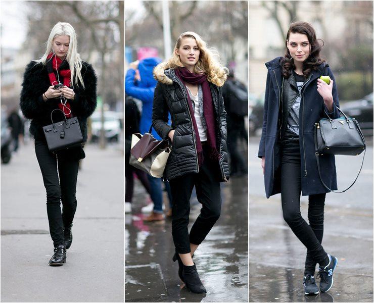 Уличный стиль моделей в Париже  (2)
