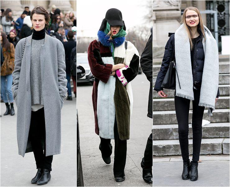 Уличный стиль моделей в Париже  (6)