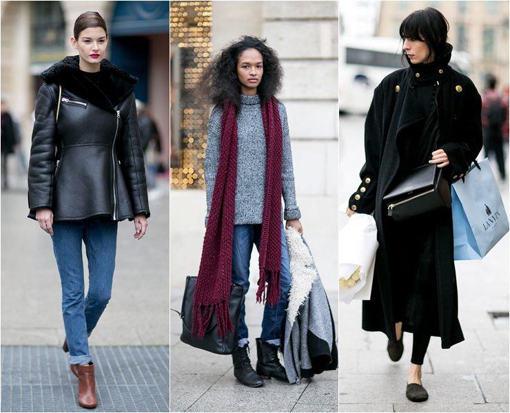 Уличный стиль моделей в Париже  (8)