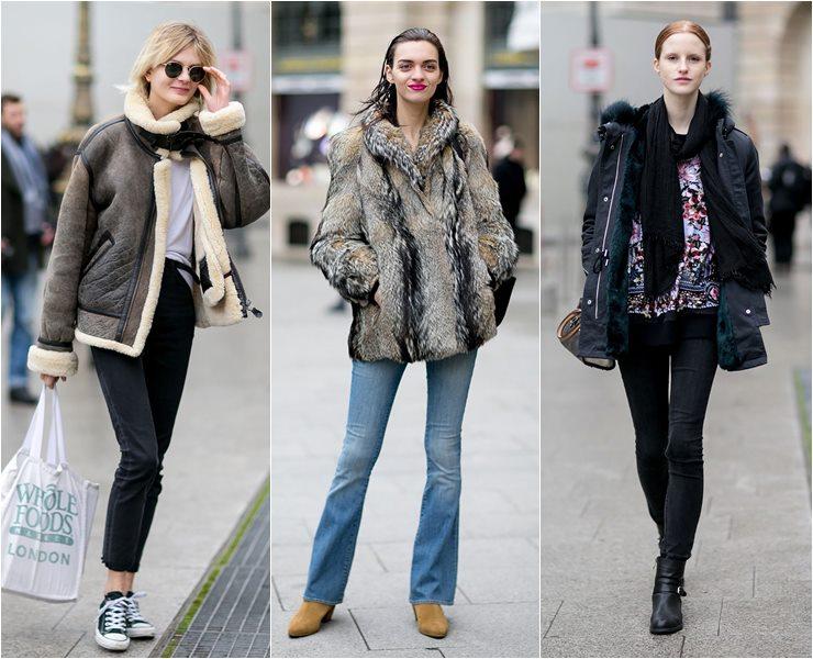 Уличный стиль моделей в Париже  (9)
