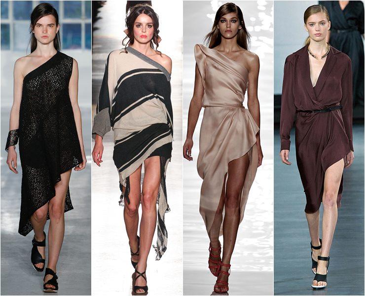 асимметричные летние платья