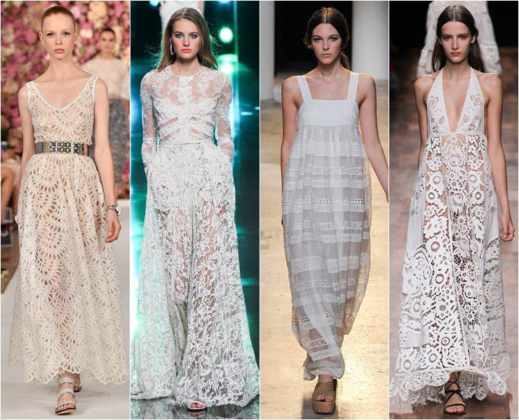 Коллекция кружевных летних платьев