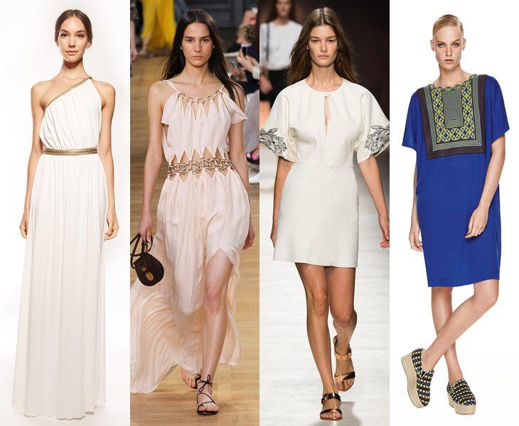 Платья в греческом и римском стиле весна лето 2015