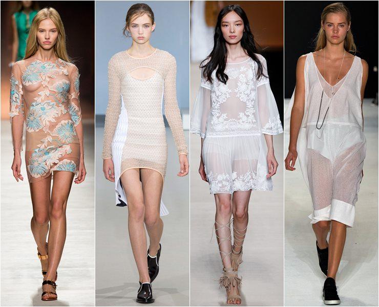 Короткие прозрачные платья весна лето 2015