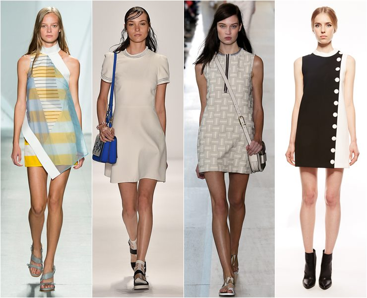 Короткие платья в стиле шестидесятых весна лето 2015