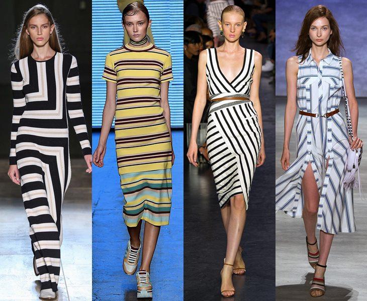 Платья в полоску  весна лето 2015