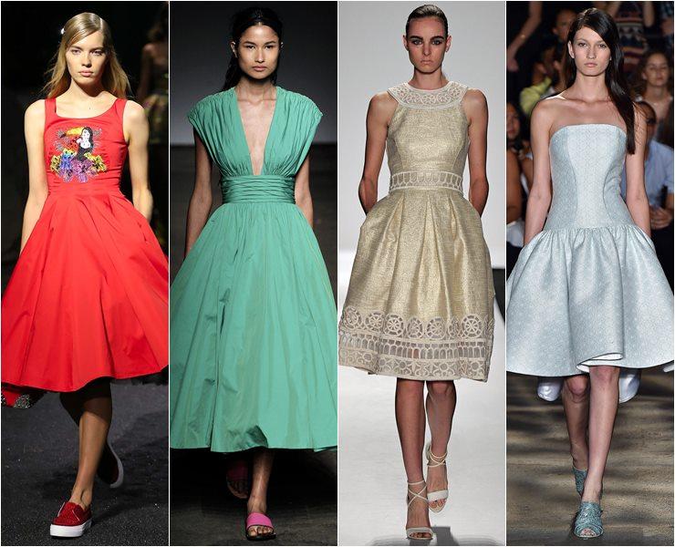 Платья в стиле ретро: пятидесятые годы