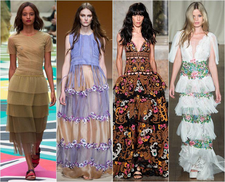 Платье с ярусами и оборками