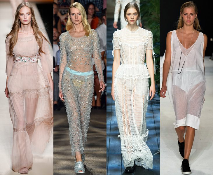 Прозрачные платья весна лето 2015