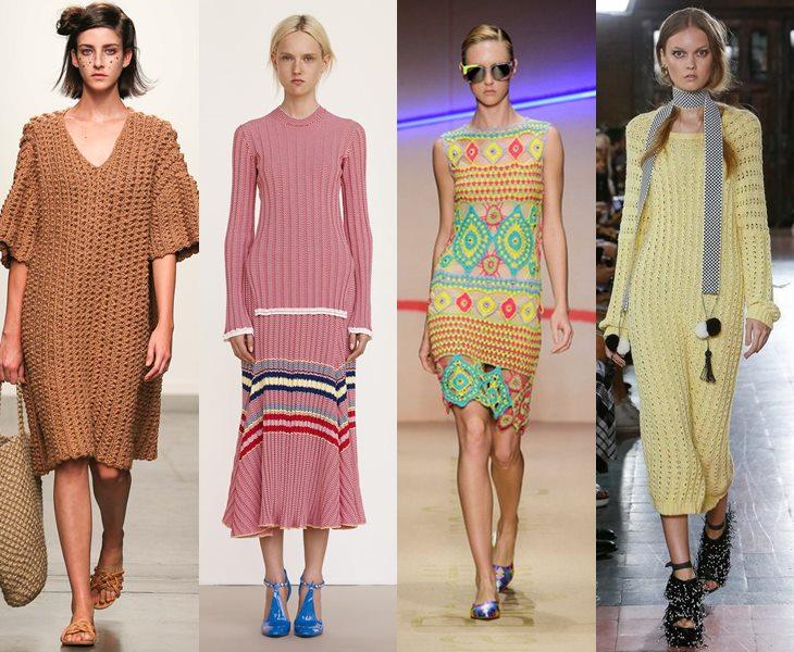 Трикотажные платья  весна лето 2015