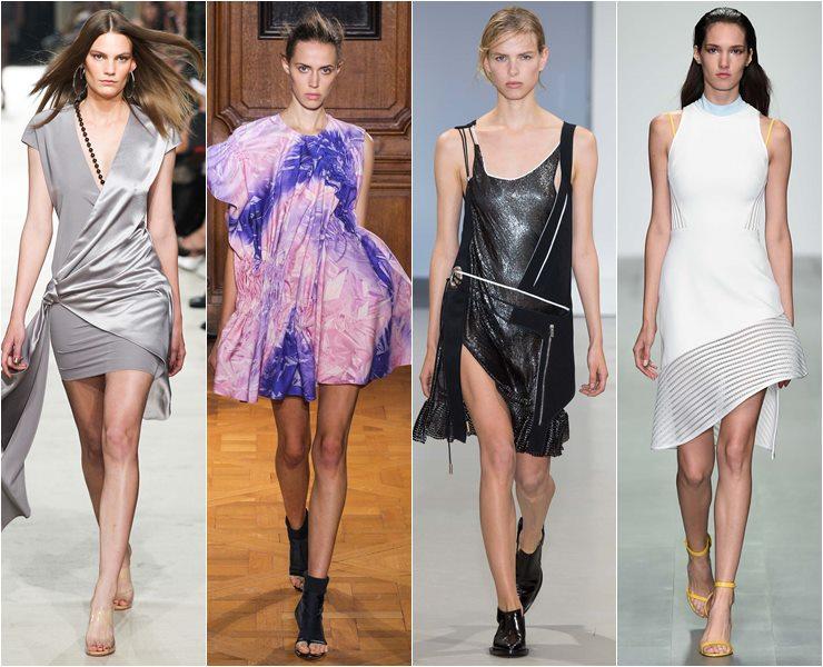 асимметричные коктейльные платья весна-лето 2015