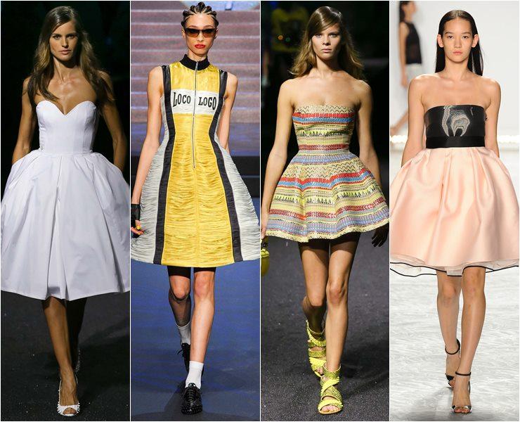 коктейльное платье юбка колокол весна-лето 2015